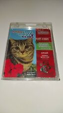 Soft Claws Holiday Nail Caps For Cats Kittens Red Green Christmas  4 Sets