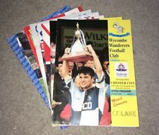 More details for 1993-94 wycombe wanderers home & away programmes (1st ever season in the league)