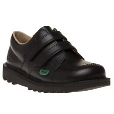 Boys Kids Kickers Kick Lo Infant Core Black Leather School Shoes Size Uk6 Eu23