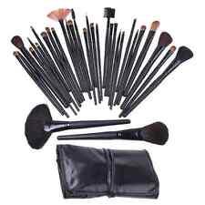 32 PCS  Cosmetic Makeup Brush Set Goat Hair+ Leather Case