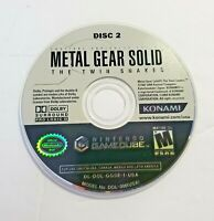 Metal Gear Solid The Twin Snakes Disc 2 Replacement Nintendo GameCube
