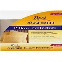Pair of Downia Rest Assured Quilted Pillow Protector Standard Size 45 x 70cm