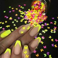 1Box Nail Art Butterfly Glitter Sequins Nail Decor Holographic Laser 3D Flakes~