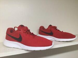 NIKE Men's Tanjun Red Sneakers Size 14 Lightweight