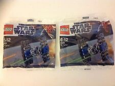 2 X nuevo Lego Star Wars Set 8028 Tie Fighter Bagged Set X 2 sellado de fábrica