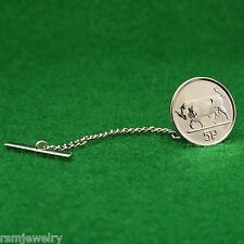 Tie Tack, Irish Bull Coin, 5 Pence (Small) Ireland Eire Lapel Pin