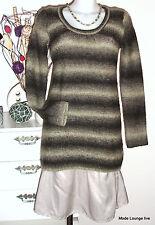 NOA - Pullover di lana GABBIANO lavorato a maglia S/36 JUMPER SHARK Grigio Beige