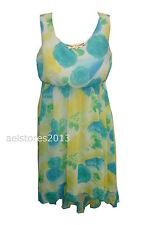 Vestido Verano Niñas Floral Gasa Talla  2 4 6 8 10 12 años Rosa Azul