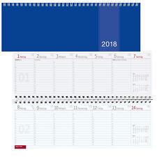 Tischkalender 2018 1 Woche = 1 Seite Querkalender Bürokalender blau 1W/1S quer