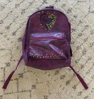 Disney Descendants Mal Evie Backpack Faux Leather Purple Dragons Heart Studded