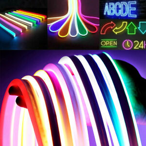 2M LED Strip Neon 2835 SMD Tube Rope Light Flexible Silicone Sign Waterproof 12V