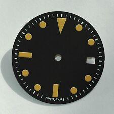 Plain Milsub Watch Dial for ETA 2836 / 2824 Movement Orange Lume w/Date