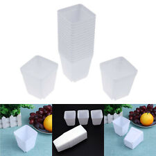 20pcs Plastic Plant Flower Pot Trays Small Succulent Planter Garden Decoration