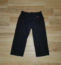 Nike Womens Legend Dri Fit Pull On Capri Pants Black Pink XS $40