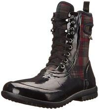 Bogs Women's Sidney Lace Plaid All Weather Rain Boot, Black/Multi, 9 M US