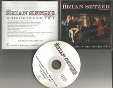 Stray Cats BRIAN SETZER Wolfgang's Big Night Out DIFERENT ART ADVNCE PROMO DJ CD