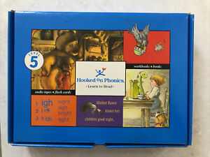 Hooked On Phonics Level 5, Books with Cassette Blue Box- Missing Cards