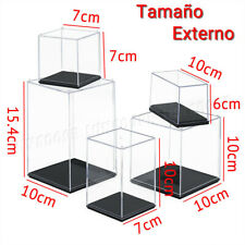 ES Acrílico de Exhibición 6/7/10/15.4 cm Altura Caja Caso Transparente Antipolvo