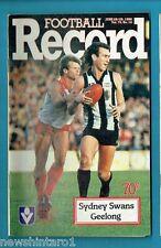 #NN. AUSTRALIAN RULES FOOTBALL RECORD, SYDNEY SWANS V GEELONG  28-29/6/1986