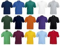 5-Pack Fruit of the Loom Men's Short Sleeves Poly/Cotton Piqué Polo Shirt Sports