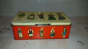 Antica scatola in latta PANE DEGLI ANGELI anni '60 vintage