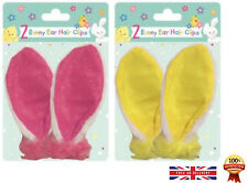 Easter Bunny Rabbit Ears Hair Clips Pink Fancy Dress Costume Accessory Clip On