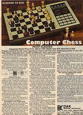 Original 1983 DAK Computer Chess Game Magazine Ad