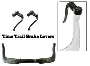 1 Paar Fixed Gear Fahrrad TT Triathlon Bullhorn Bar Lenkerend Schwarz bremshebel