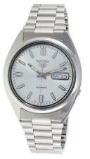 Relojes de pulsera automático de acero inoxidable plateado, para hombre