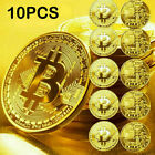 New 2021 Bitcoin Physical Collectible Coin BTC Gold Plated 1 Ounce 40mm 1-10Pcs