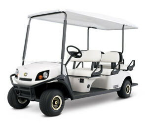 GOLF  BUGGY -CUSHMAN SHUTTLE 6 ELECTRIC - 72 VOLT - IVORY - 6 SEATER - BRAND NEW