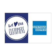 """American Express We Love Our Customers Decal Set of 5 Stickers Signs 5"""" x 3.25"""""""