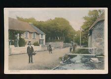 Devon CROYDE Village scene Children c1900/10s? PPC