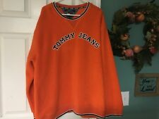Vintage Men's Tommy Jeans Hilfiger Fleece Crewneck Pullover Size XXL (CON5)