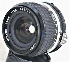 Nikon Nikkor 24mm f/2.8 MF Ai-s Lens Excellent+ No. 825779