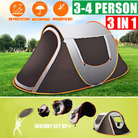 3-4 erson Waterproof Automatic Setup Family Camping Tents Outdoor Shelter