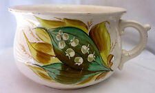 Vintage Pottery Guzunda Large Bowl with Handle Table Ware Decorative Vase Pot Of