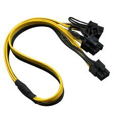 PCI-E PCI Express 6Pin to 2-Port 8Pin 6+2 Pin Adapter GPU Video Card Power Cable