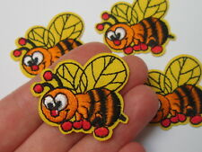 1 x bee patche insect badges for clothing iron on embroidered  sewing accessorie