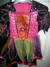 M&s Fancy Dress Halloween Fille Sorcière Dressing Up Costume Âge 3-4 - Bnwt