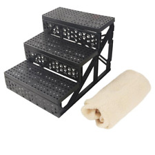 Portable Cat Dog 3-Step Ramp Small Climb Pet Step Stairs, Beige