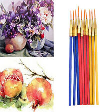 10Pcs/Set Fine Hand-painted Thin Hook Line Pen Drawing Art Pens Paint Brush Je