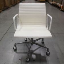 Eames Aluminum Management Chair - White Vicenza Leather- Herman Miller DWR
