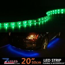 "6X GREEN LED Strip Under Car Tube underglow Underbody System 20"" 30SMD Lights"