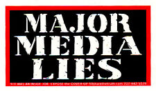 Major Media Lies - Magnetic Small Media Reform Bumper Sticker / Decal Magnet