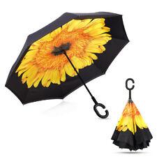 C-Handle Upside Down Double Layer Umbrella Reverse Umbrella Windproof Inverted