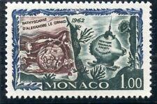 STAMP / TIMBRE DE MONACO N° 597 ** FAUNE / L'HOMME SOUS LA MER / BATHYSCAPHE