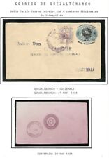 Guatemala: 1898; Postal Stationery used, cancellation: Quezaltenango, EBG079