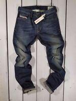 NEW MEN'S Diesel Jeans Thavar 0R0JJ SLIM SKINNY W28 L30 STRETCH 100% AUTHENTIC
