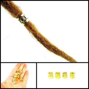 x8 Gold Dread Bead Cuffs, Dreadlock Cuff, Bead, 8mm Hole, Adjustable, Unisex